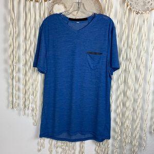 Lululemon Mens Blue Short Sleeve Athletic Top